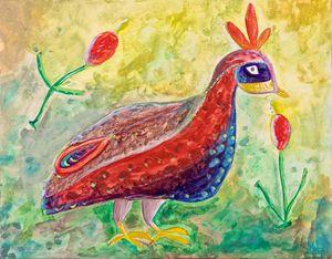 Roman Mosaic Peacock