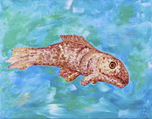 Roman Mosaic Fish
