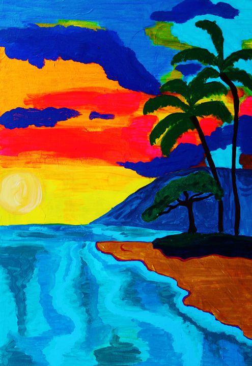 Bocas del Toro sunset - Eve's art gallery