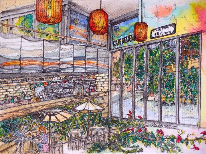 Cafe Deadend in Hong Kong - all day sketches