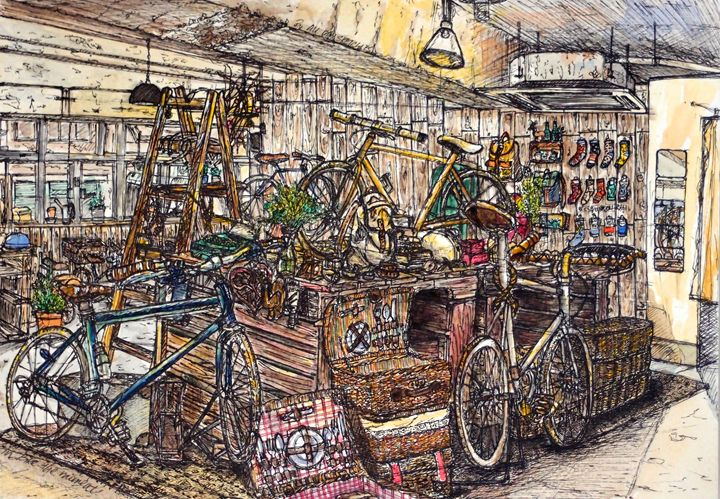 Bike the moment-in hong kong - all day sketches