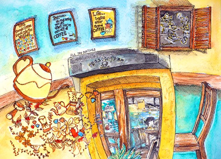 freshness coffee in hong kong - all day sketches