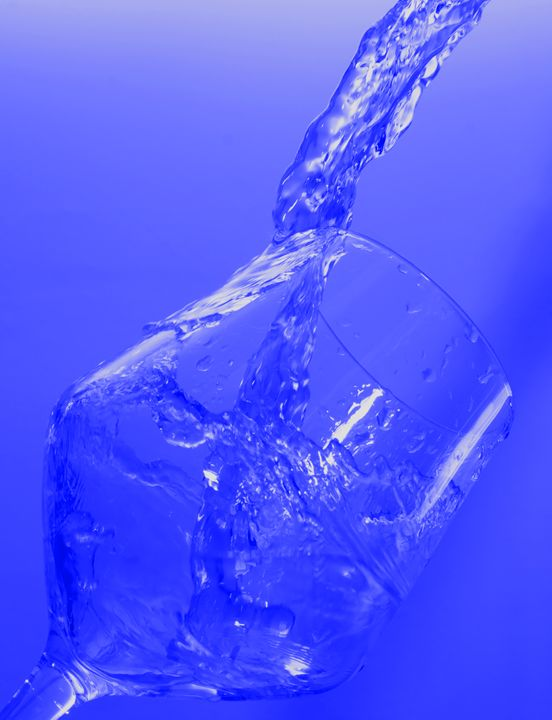 Water Splash in Glass - Blue - Rocket Cottage Photography