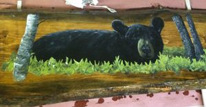 Black Bear Coffee Table Top