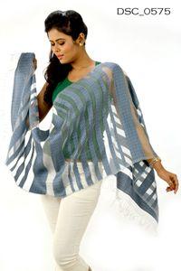 Designer Silk Woolen Stole DSC0575