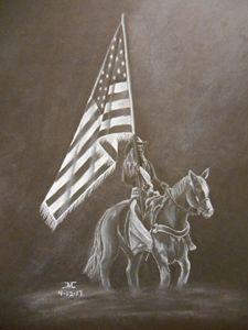 Rodeo Flag Girl - JMC Arts & Crafts