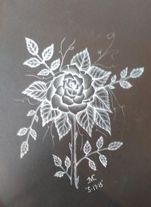 Monochrome Rose - JMC Arts & Crafts