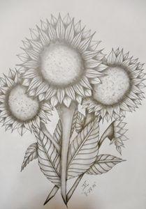 Sunflowers x4 - JMC Arts & Crafts