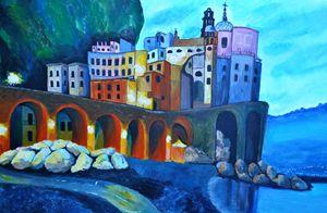 Atrani Italy Acrylic Painting