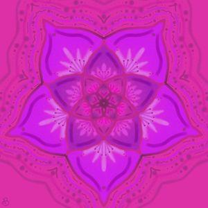 Pink Henna Flower