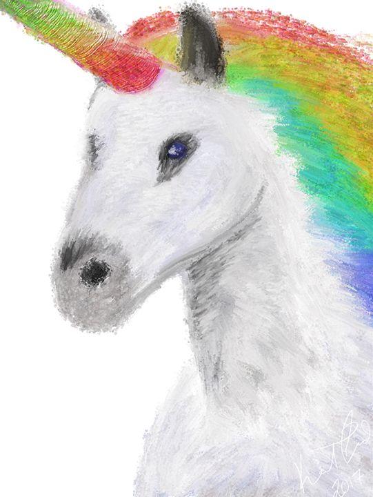 Mystical Unicorn - Digital art by Kel