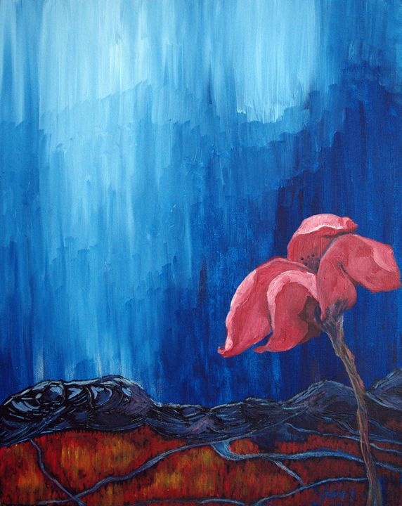 The Red flower - Art By Innes