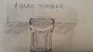 A glass tumbler