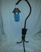 Steel table lamp with mason jar lens - Happy Green Living