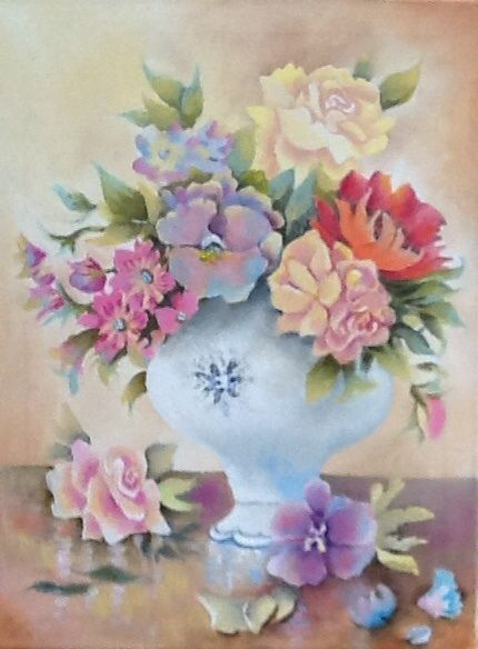 Spring vase of Flowers - Lynsey Irish Art