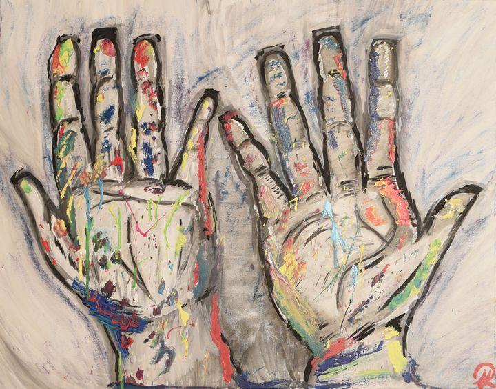 Creative Hands - Morgan Rhodes Abstract Art