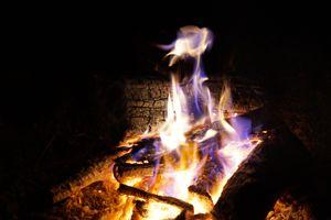 Unique campfire flame