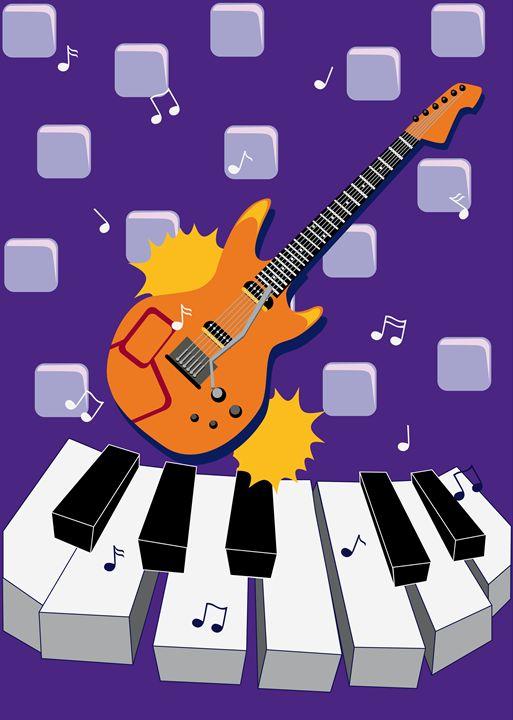 Rock guitar - Symplisse Art