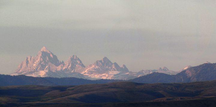 Tetons as seen from Idaho - JFWOA - Joey Favino's WORLD Of Art