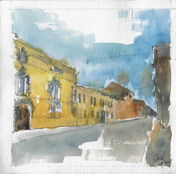 Via Solferino II - My watercolours art works