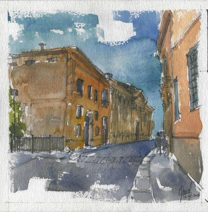 Via Angelo Scarsellini - My watercolours art works