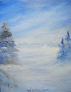 Winter scape in Michigan