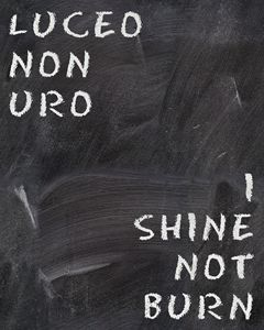 I shine not burn