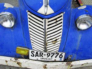 Colourful Old Car. Montevideo, Urugu