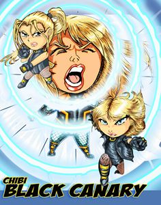 Chibi Black Canary