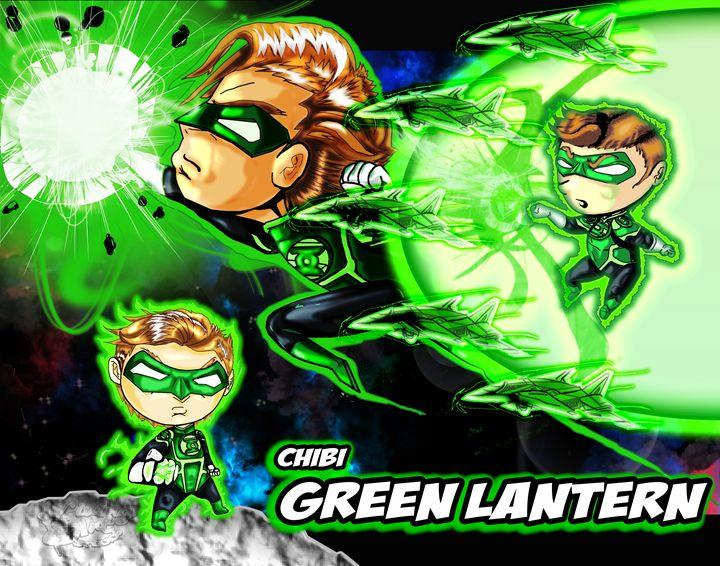 Chibi Green Lantern - Living Art Studios