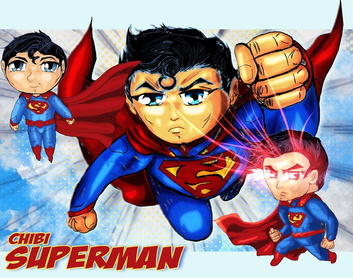 Chibi Superman - Living Art Studios
