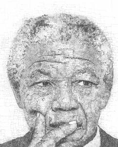 Nelson Mandela Pixelated