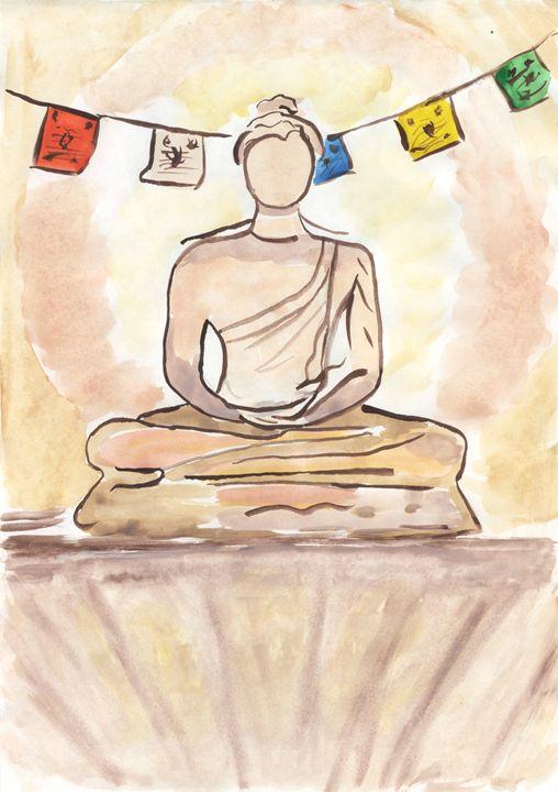 Buddha 29.7x21 cm - Aigul Bakieva