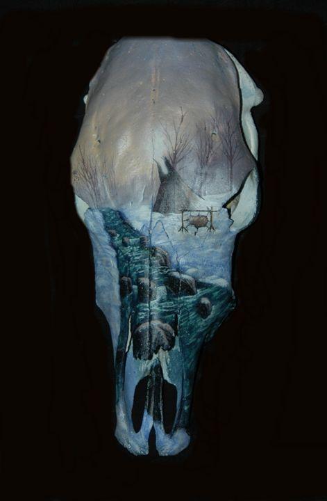 Solitary - Blackwater Art and Skulls