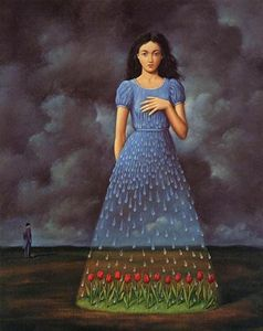 The rose bed & Girl