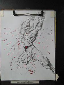 Wolverine pencil after Jim Lee
