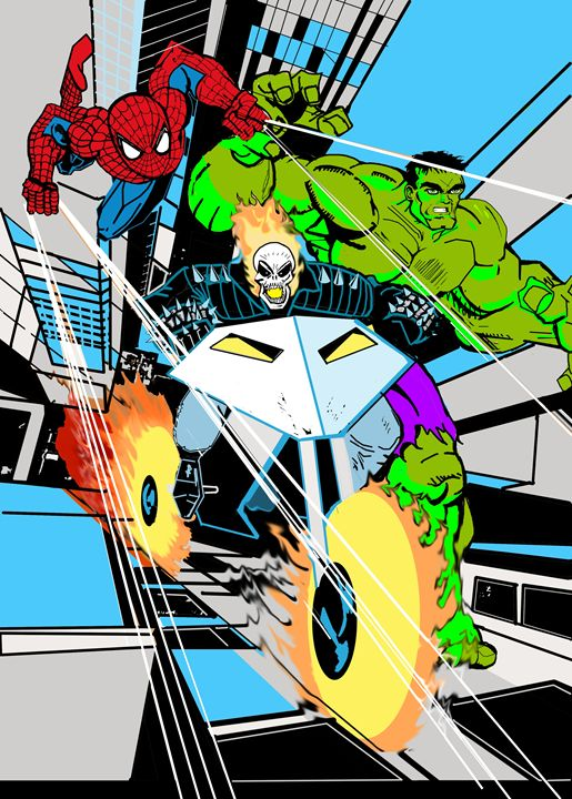 Digital medium. - I love to draw Superheroes