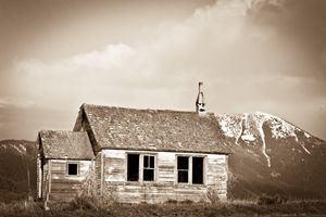 Lonely Shcoolhouse on the Prairie