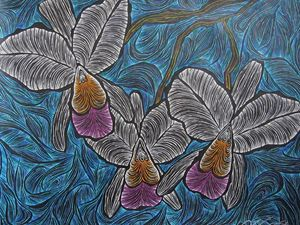 Christmas Cattleya - JBywaters Art