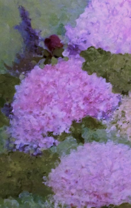 Hydrangea with rose - Mindy Reese