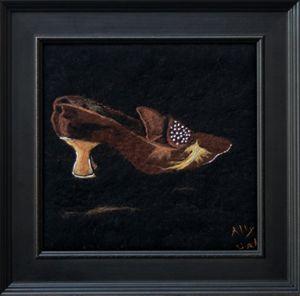 Brown antique shoe
