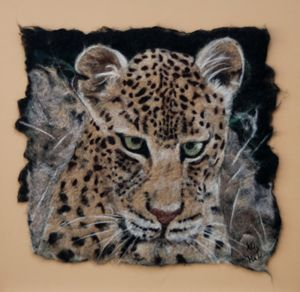 Leopard contemplating