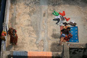 Laundry Day, Varanasi