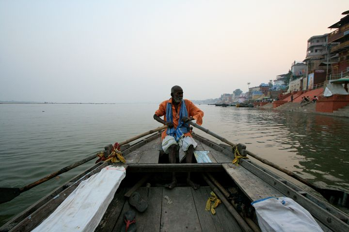 Old man and the Ganges - Dano Vukicevich Photography