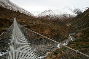 Bridge to Thorong La, Nepal - Dano Vukicevich Photography