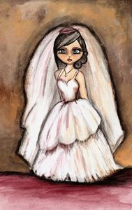 Big eyed wedding girl