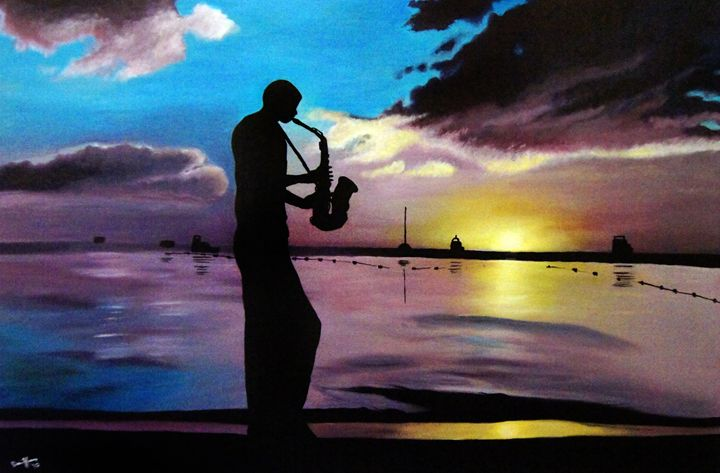 Sax on the Beach - David Hunley