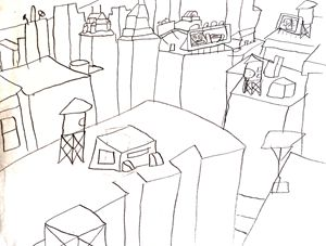 New York City Rooftops by Had Rees