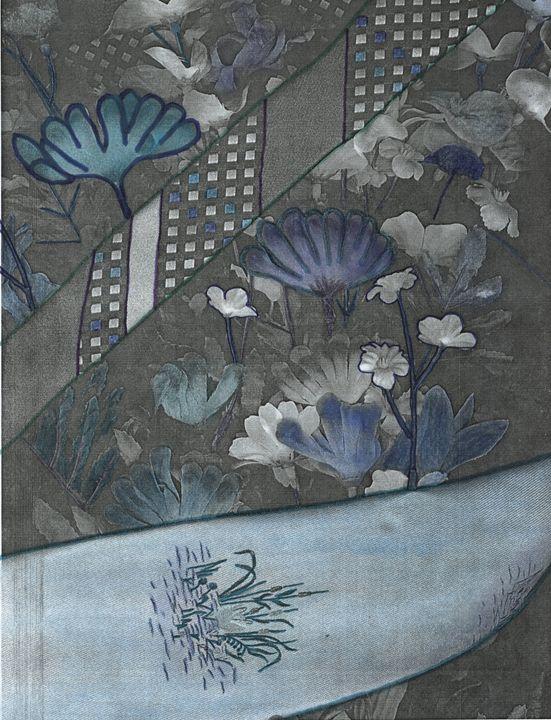 Blue Tie and Flowers - David Jacobi