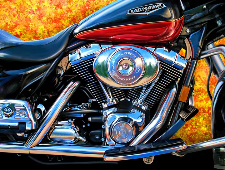 Harley Davidson Road King - David F Kyte